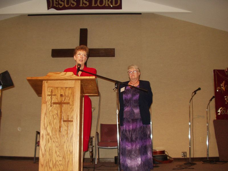 Joan introduces Carol with CFAR - The Centers for Apologetics Research